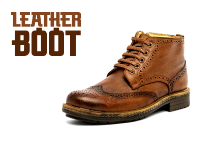 suppliers of mens leather Boot shoes